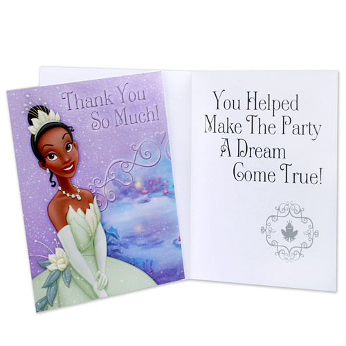 Princess and the Frog Thank You Notes Envelopes (8ct)