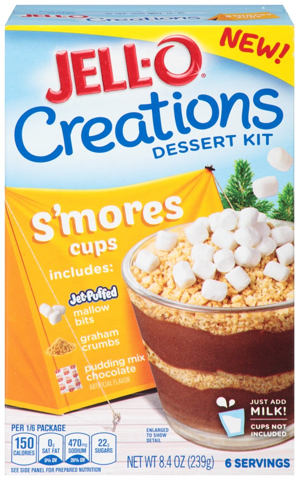Jell-O Creations Dessert Kit S'Mores Cups, 8.4 Oz by Kraft