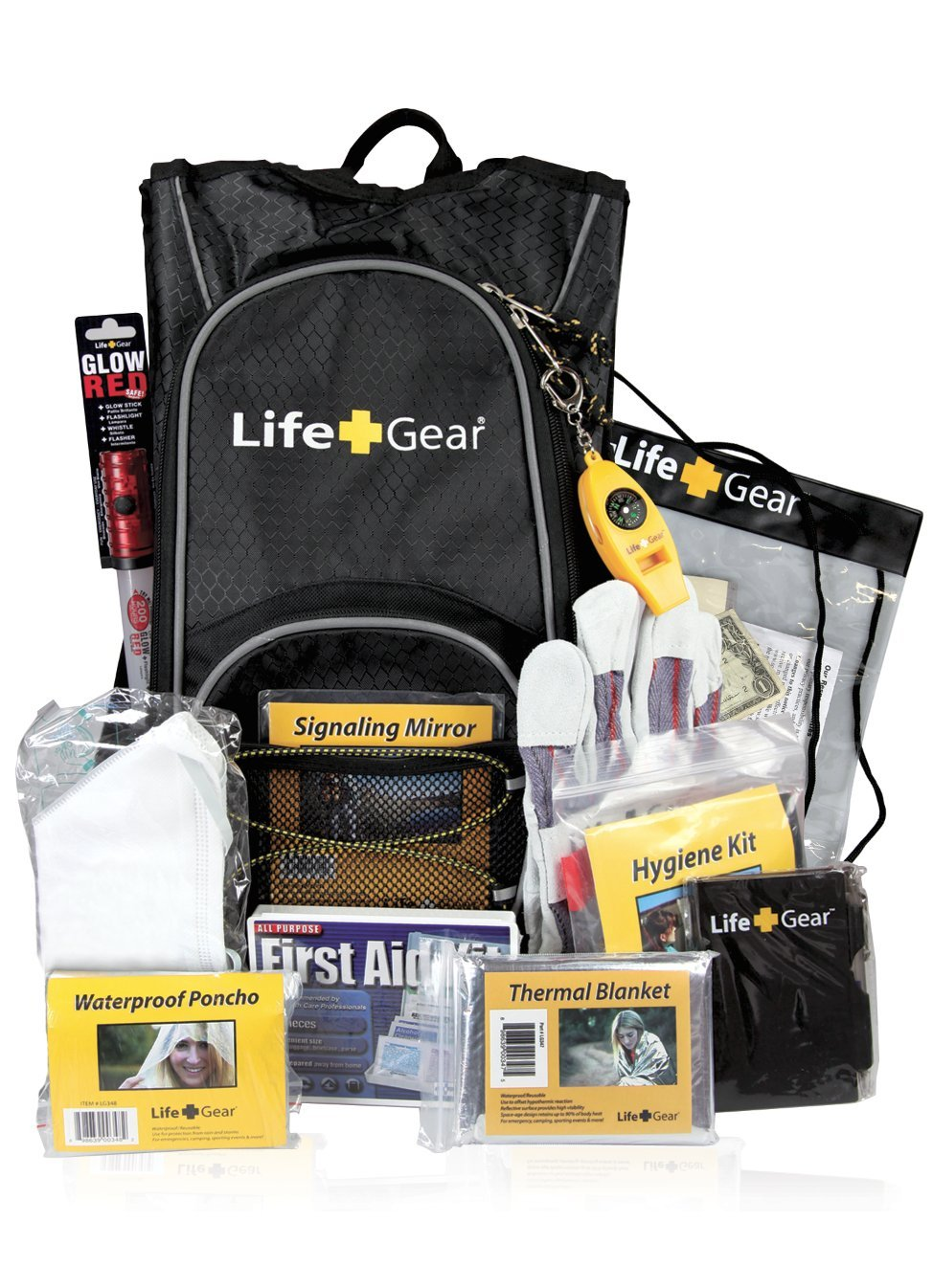 "Life Gear ""Day Pack"" Emergency Survival Kit with Emergency Gear and First Aid Kit by Life Gear"