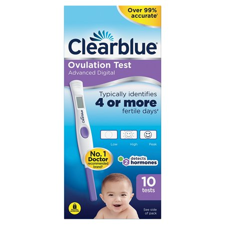 Clearblue Advanced Digital Ovulation Test--Pack of 10 Sticks, By HealthLand from