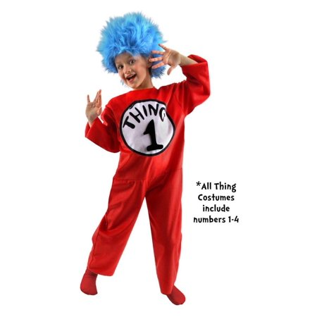 Dr. Seuss Thing Costume Child 4-6 - Child Dr Seuss Costume