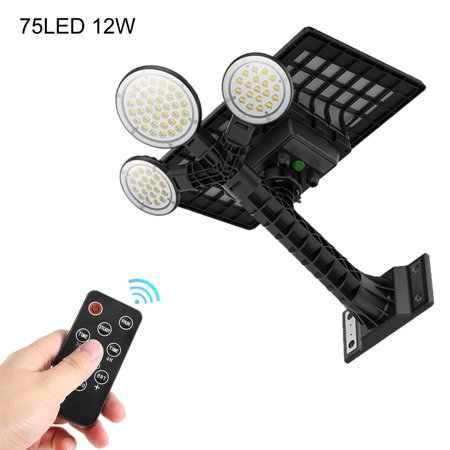 Ejoyous 75LED Ultra Long Distance Remote Control Outdoors Solar Sensor Street Light, LED Solar Street Light, Solar Light Remote Solar Lighting
