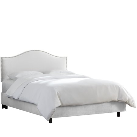Skyline Trim Microsuede Upholstered Bed