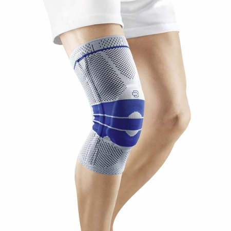 Bauerfeind - GenuTrain - Knee Support - Targeted Support for Pain Relief and Stabilization of the Knee, Provides Relief of Weak, Swollen, and Injured Knees Titanium Size 5