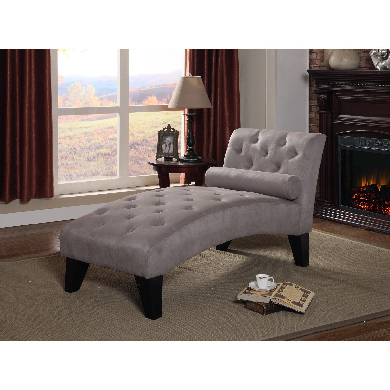 NH Designs Microfiber Chaise Lounge