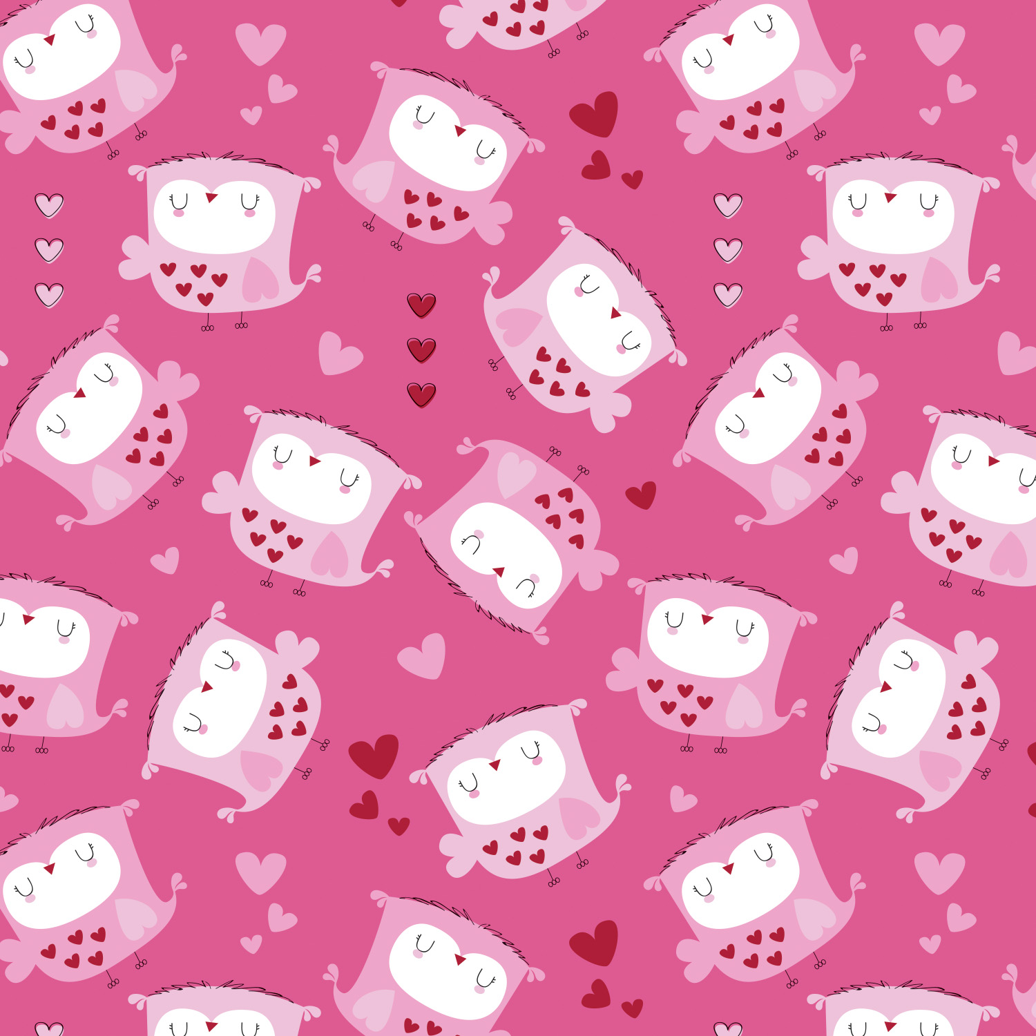 Emma and Mila - Flannel Owls Pink