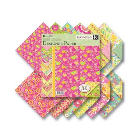 K&Company Berry Sweet Designer 8-1/2 Inch by 8-1/2 Inch Paper Pad 36/Sheets, 3 Each Of 12 Designs