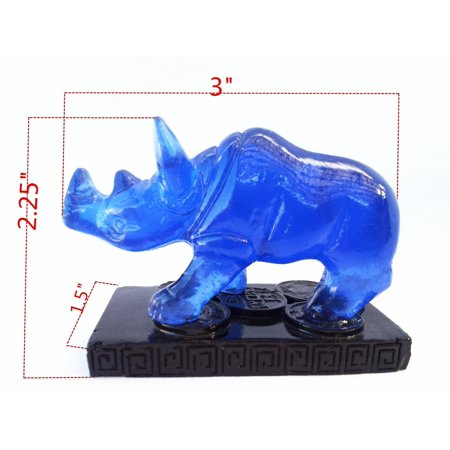 Feng Shui Bejeweled (Feng Shui Blue Double -Horn Rhinocero to Anti Burglary ( with a Betterdecor Gift Bag) )