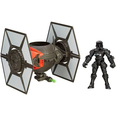 Star Wars Hero Mashers Episode VII TIE Fighter and TIE Fighter (Star Wars Black Series Titanium Tie Fighter)