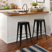 "Best Choice Products 30"" Set of 2 Modern Industrial Backless Metal Bar Stools (Black) by Best Choice Products"