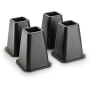 Simplify 6 inch Bed Risers 4 Pack in Black