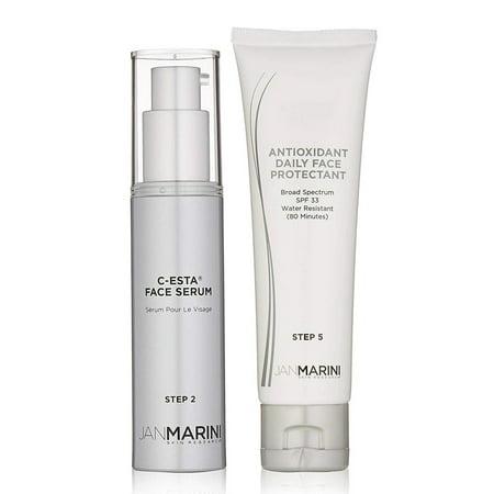 Jan Marini Rejuvenate & Protect Antioxidant Daily Face Protectant & C-Esta Serum (Rejuvenating Antioxidant Serum)