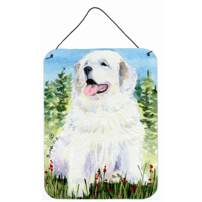 Carolines Treasures SS8866DS1216 Great Pyrenees Aluminium Metal Wall Or Door Hanging Prints - image 1 de 1
