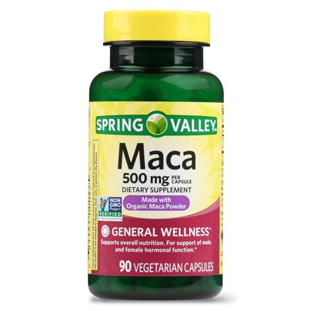 Spring Valley Maca Capsules, 500 mg, 90 Ct