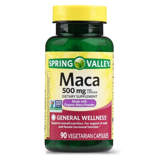 Spring Valley Maca Capsules, 500mg, 90 Count