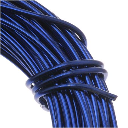 118 Wire Gauge - Aluminum Craft Wire Royal Blue 18 Gauge 39 Feet (11.8 Meters)