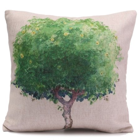 Meigar Simple Plant Couch Cushion Pillow Covers 18x18 Square