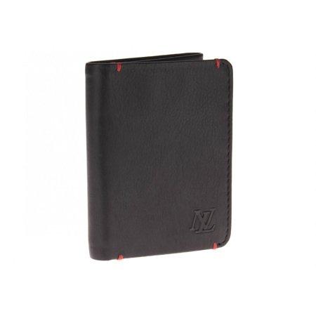 Luciano Natazzi Designer Men's Nappa Leather RFID Blocking Slim Trifold Wallet