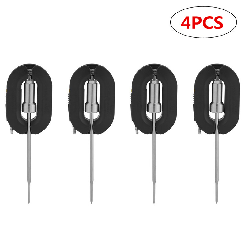 4 PCS BBQ Thermometer Probe Stainless Steel Replacement Probes Additional Long Range Probes for Bluetooth BBQ Grill Meat Thermometer