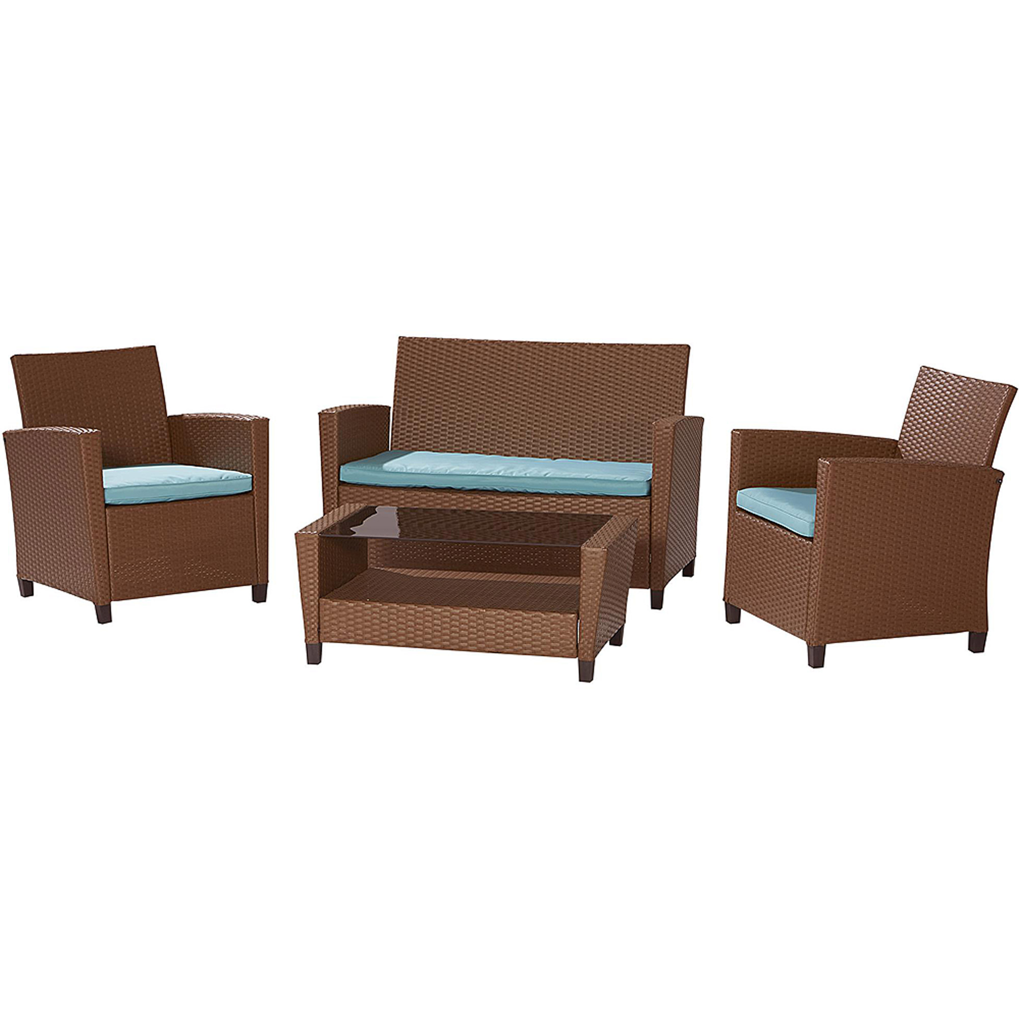 cosco outdoor malmo 4piece resin wicker patio set walmartcom - Resin Wicker Patio Furniture