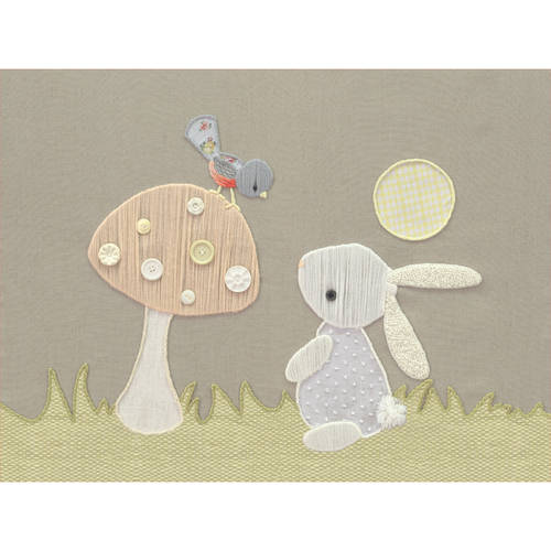 Oopsy Daisy - Canvas Wall Art Vintage Bunny & Bird 18x14 By Kristen White
