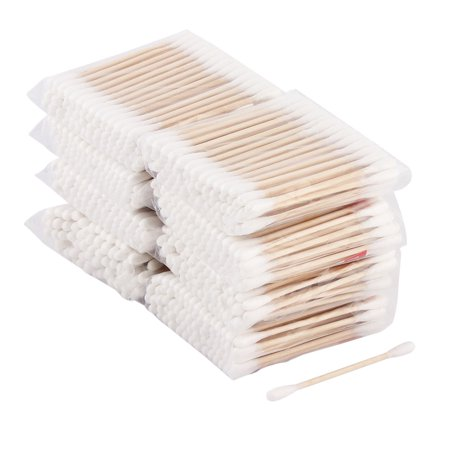 Bedroom Travel Cotton Double Head Earwax Cosmetics Remover Makeup Bud 1200pcs - image 1 de 1