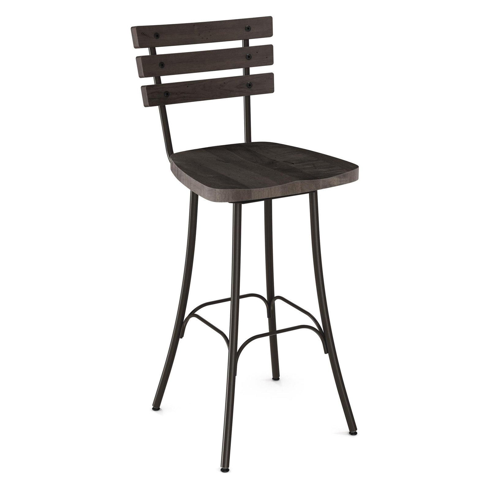 Amisco Dock 26 in. Swivel Counter Stool
