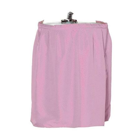 Fabric Bathroom Dobby Sink Skirt/Drape - Rose - Walmart.com