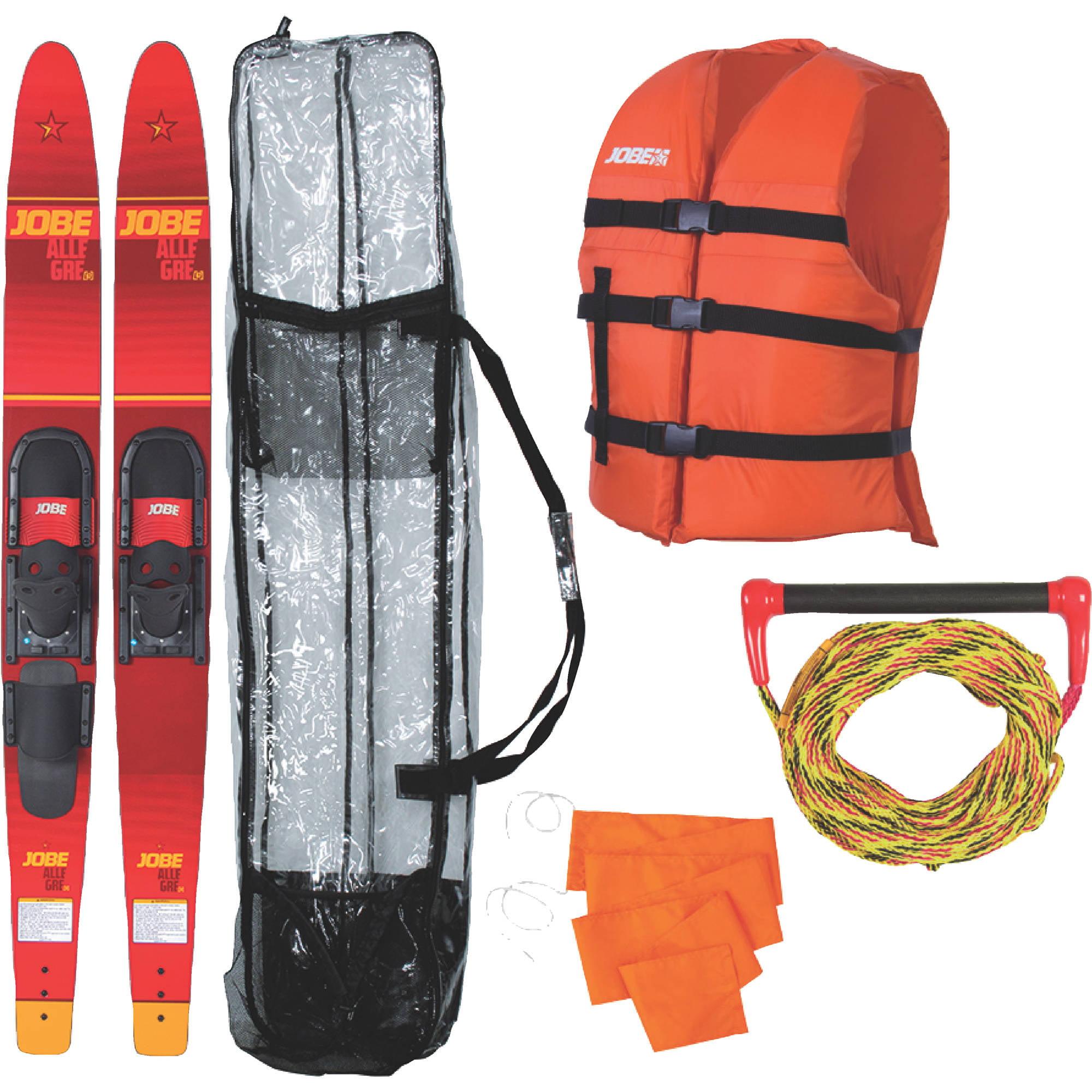 Jobe 208817101 Allegre Combo Skis   Includes Rope, Flag, Vest & Bag by Jobe Sport International