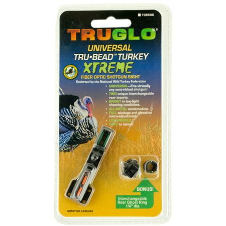 TRUGLO TRU-BEAD TURKEY UNIVERSAL SHOTGUN FIBER OPTIC GREEN/RED