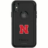 Nebraska Cornhuskers OtterBox iPhone X/XS Defender Phone Case - Black - No Size