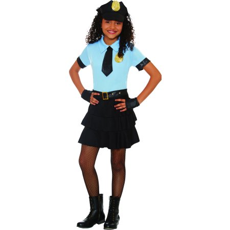 Halloween Costume 303.Girls Cuff Em Cop Halloween Costume Walmart Com
