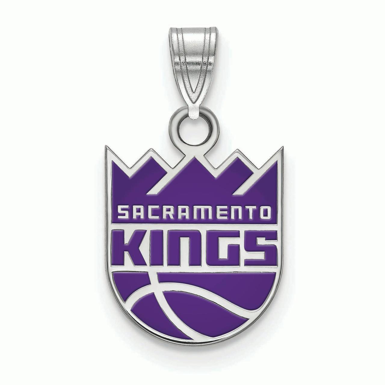 Sacramento Kings Women's Sterling Silver Small Enamel Pendant - No Size