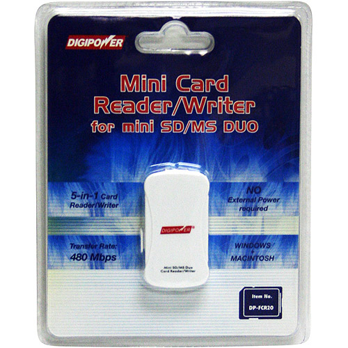 Digipower DP-FCr20 Card Reader / Writer for SD & Memory Stick DUO Memory Cards