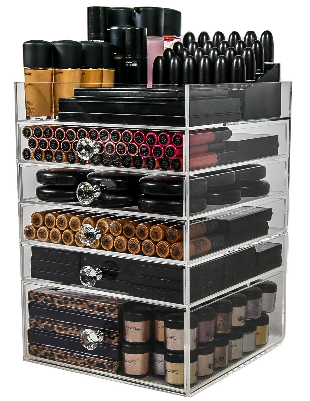 Acrylic Makeup Organizer Cube (5 Drawers) By N2 Makeup Co