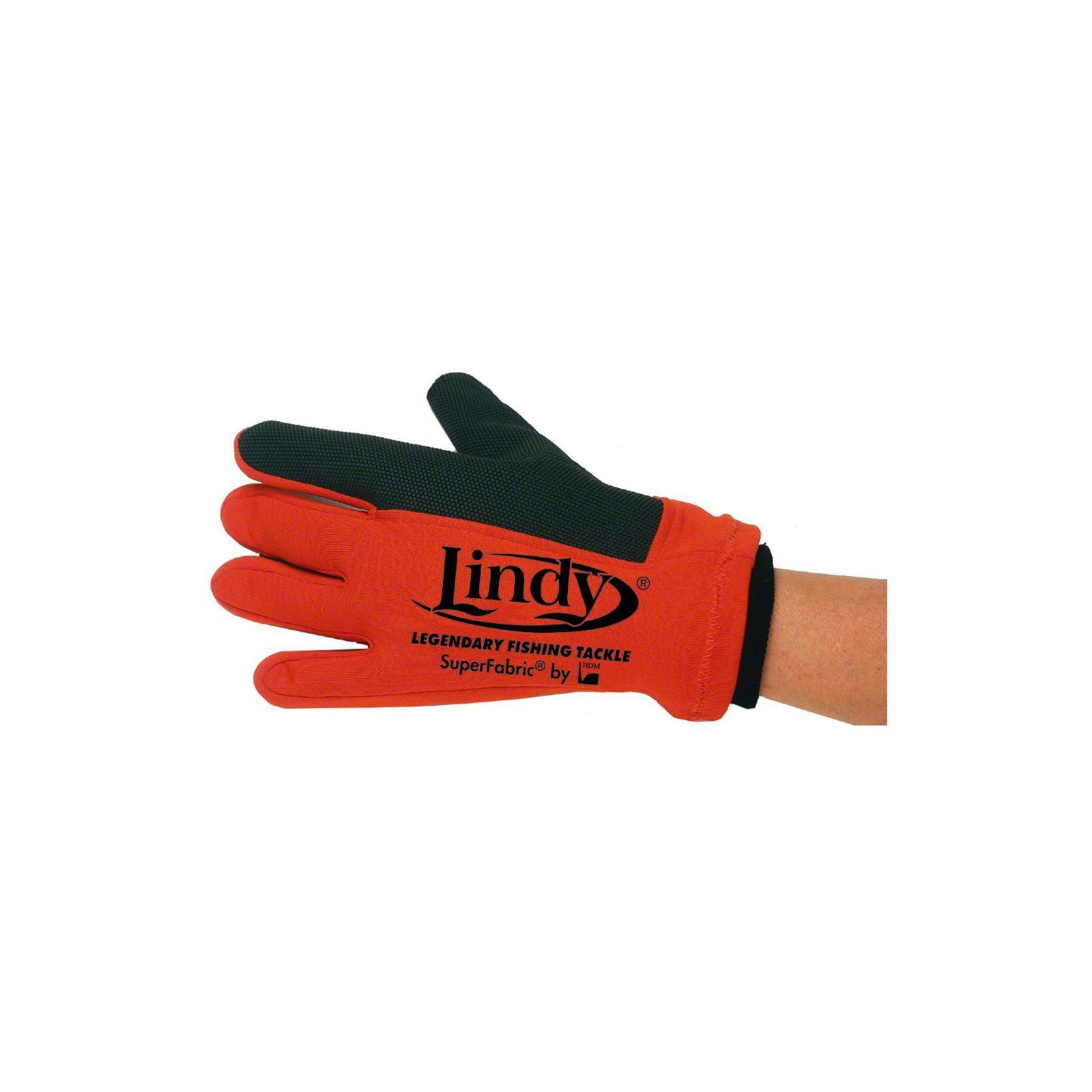Lindy Fish Handling Glove Left Hand Fishing Lure Accessory Orange