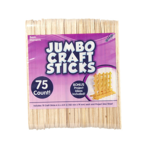Kids Craft Jumbo Craft Sticks, 75pk