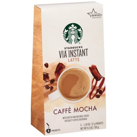 Starbucks ® VIA ® Instant Latte Caffe Mocha Instant Coffee 5 ct Box