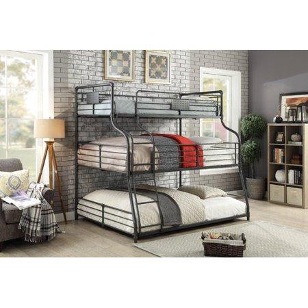 Harriet Bee Prather Twin Over Full Over Queen Triple Bunk Bed Set