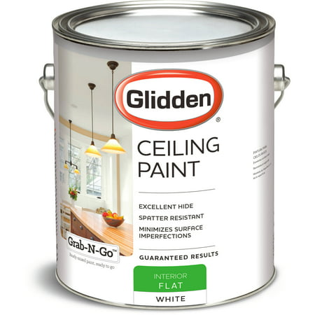 Glidden Ceiling Paint Grab N Go Flat Finish White Interior Paint