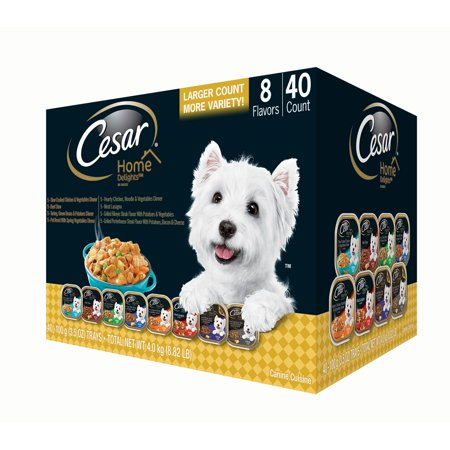 Cesar Home Delights Wet Dog Food, Variety Pack (3.5 oz., 40 ct.)](Little City Dogs)