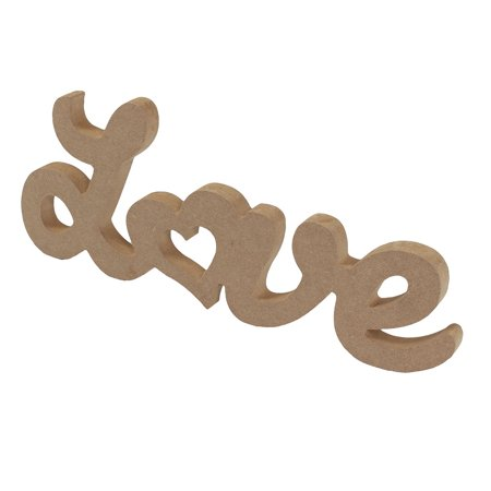 Wedding LOVE Shaped English Letter Alphabet Wall Desktop Decoration Wood Color](Desk Decoration)