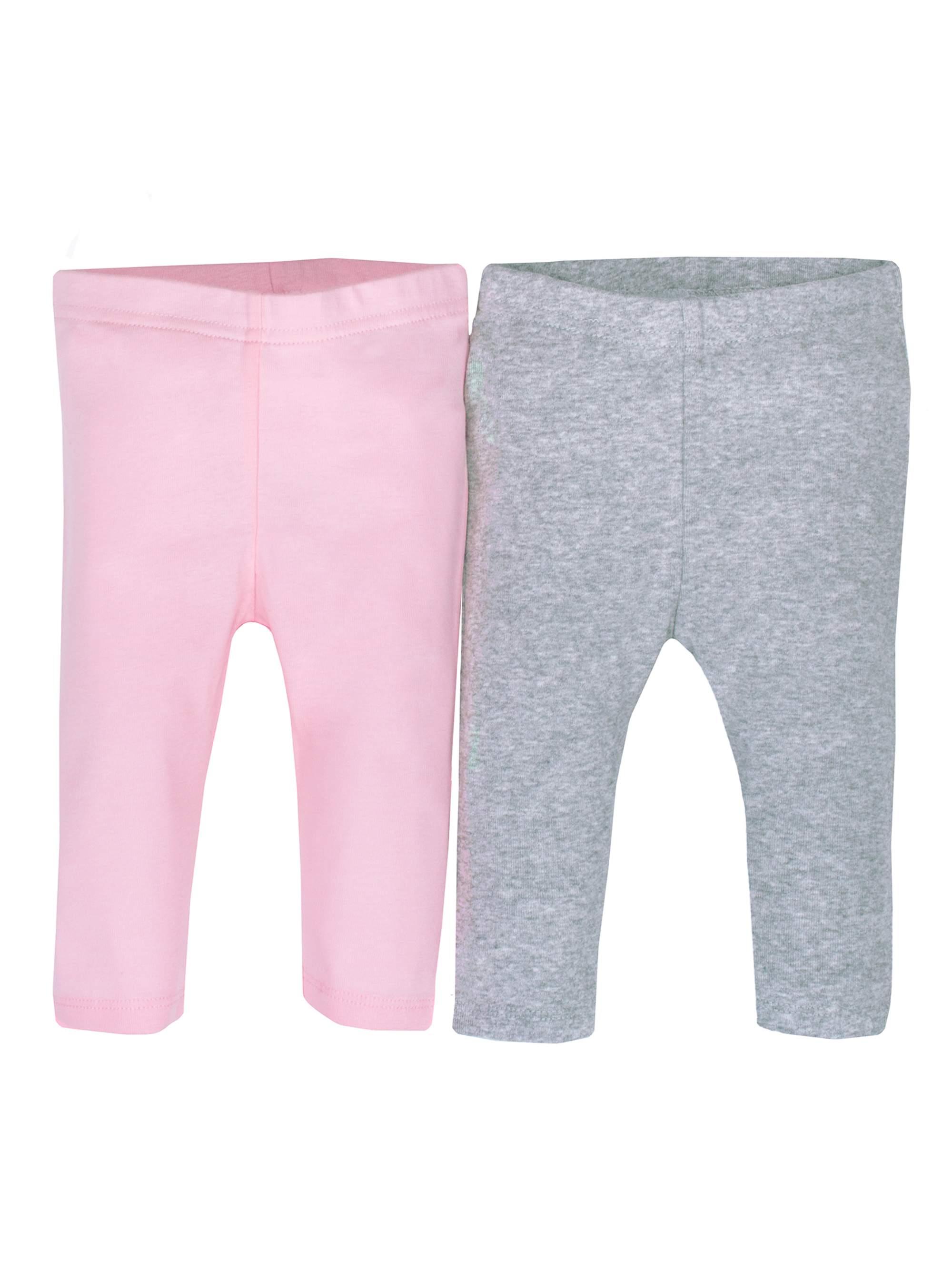 Newborn Baby Girl Organic Modern Cuff Active Pant, 2-pack