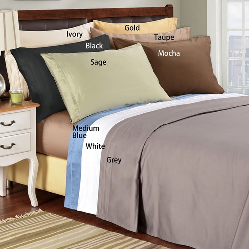 Simple Luxury 1500 Thread Count Egyptian Quality Cotton Solid Sheet Set