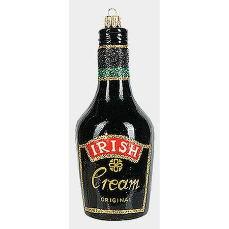 Bottle of Irish Cream Liqueur Polish Blown Glass Christmas Ornament