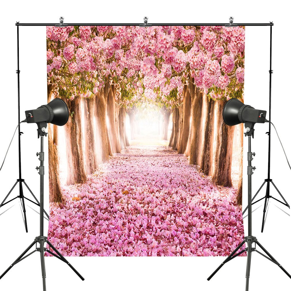 HelloDecor Polyester Fabric 5x7ft Cherry Blossom Photography Backdrop  Spring Theme Flower Wedding Birthday Girls Photo Backgrounds Studio Studio  Photo Shoot Props -Pink - Walmart.com - Walmart.com