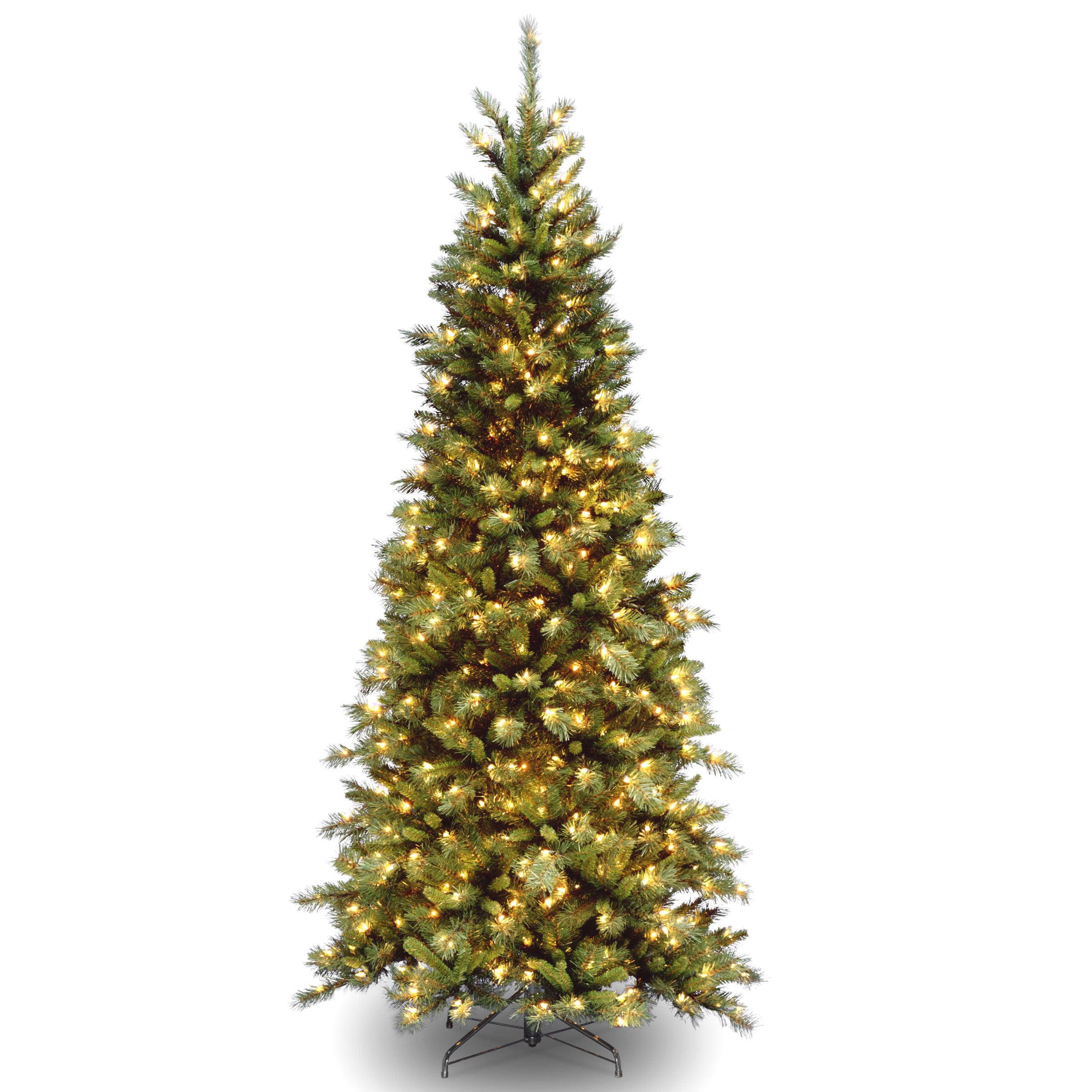 National Tree Pre Lit 7 12u0027 Tiffany Slim Fir