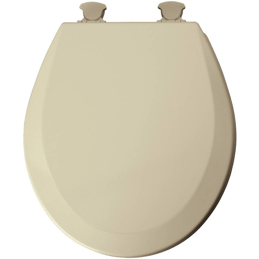 Mayfair Bone EZ Clean Round Toilet Seat by Bemis Mfg-div Of Mayfair