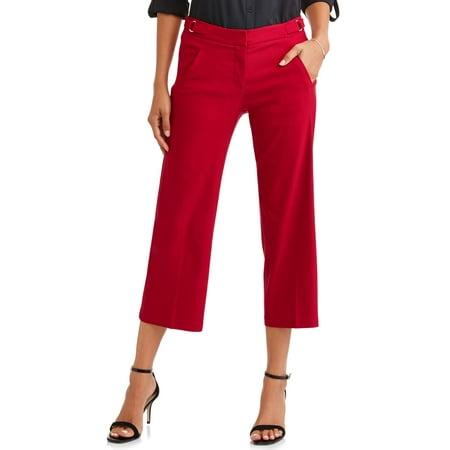 Leopard Heart Pants - Heart N Crush Women's Luxury Wide Leg Crop Pant