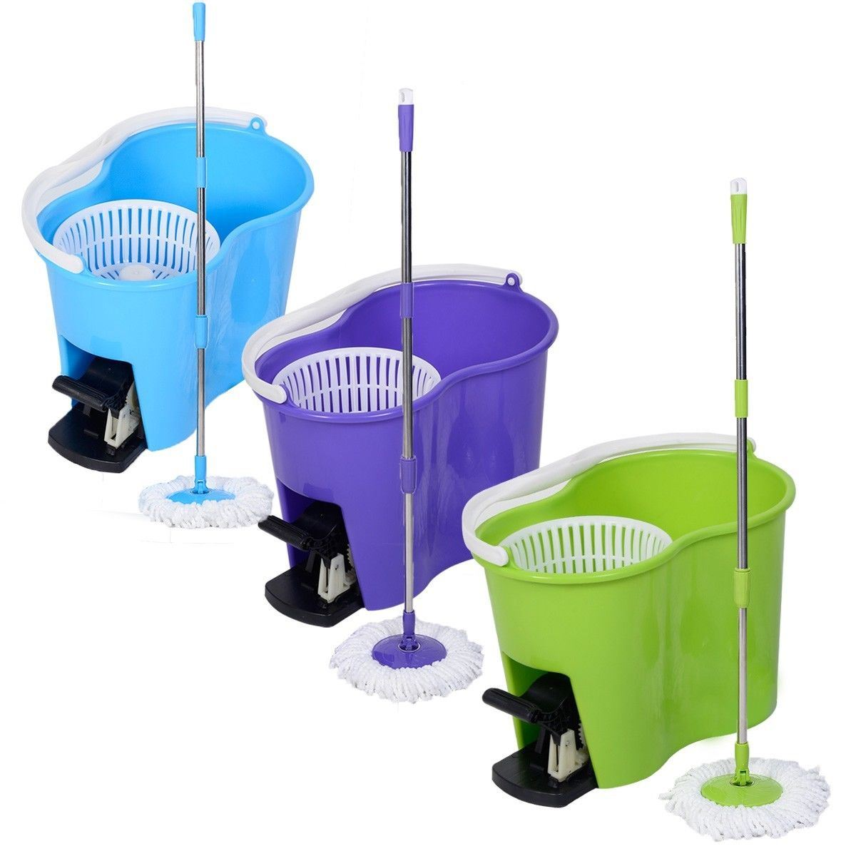 360 Degree Spin Mop And Bucket Set With Free 2 Mop Walmartcom